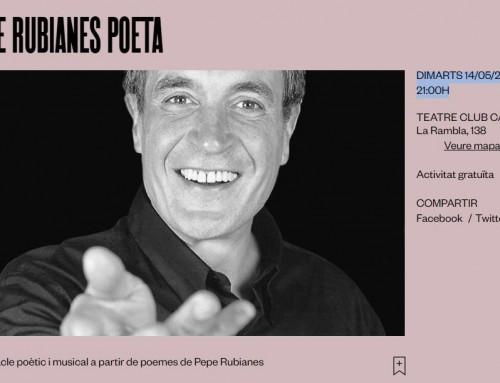 Pol Forment i Alberto Trejo participen al Teatre Club Capitol amb l'espectacle poètic i musical de Pepe Rubianes.